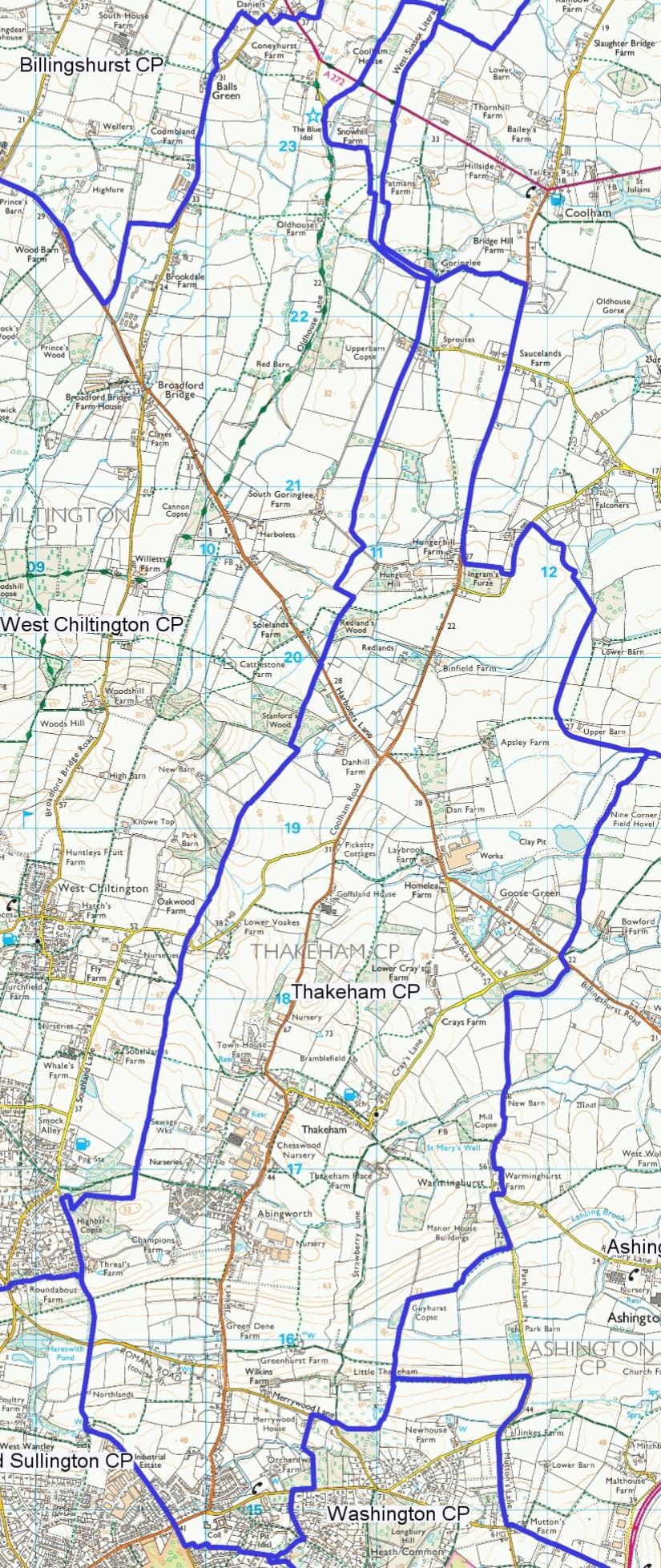 Thakeham parish a4 map [1007]