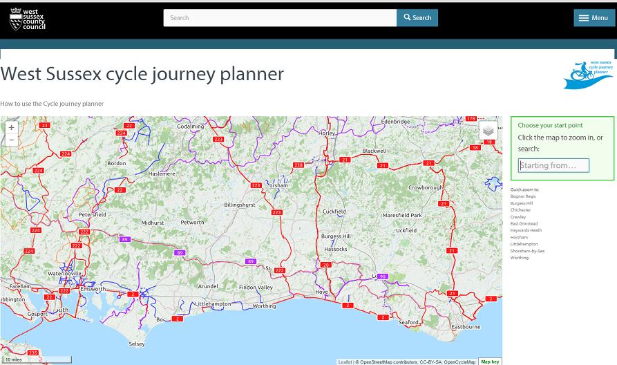 Walk Cycle Ride Thakeham Parish Council - Walking map planner