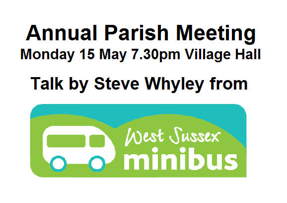 Annual Parish Meeting, Monday 15 7.30pm