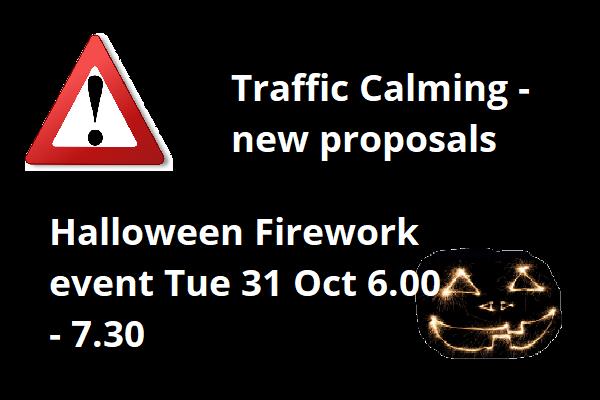 Traffic calming, Halloween Event & more!