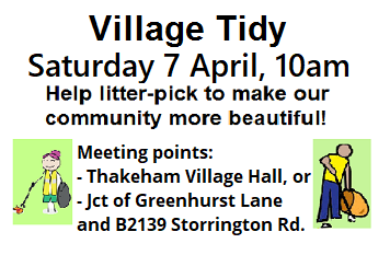 Village Tidy 7 April