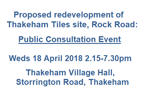 Thakeham Tiles consultation Wed 18 April