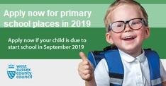 Apply for 2019 primary school places
