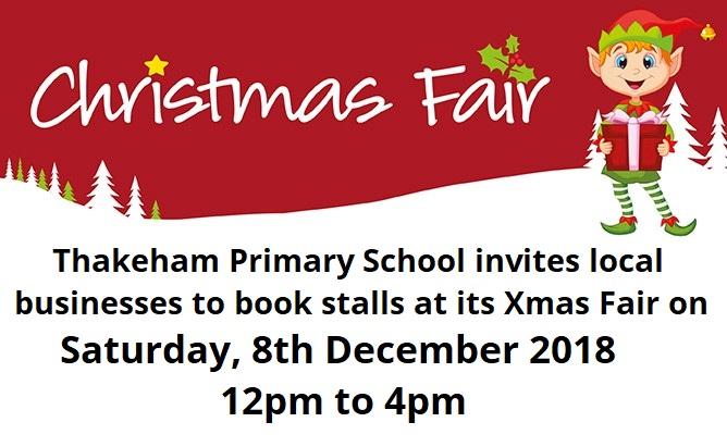 Book a stall at Thakeham Primary Xmas fair