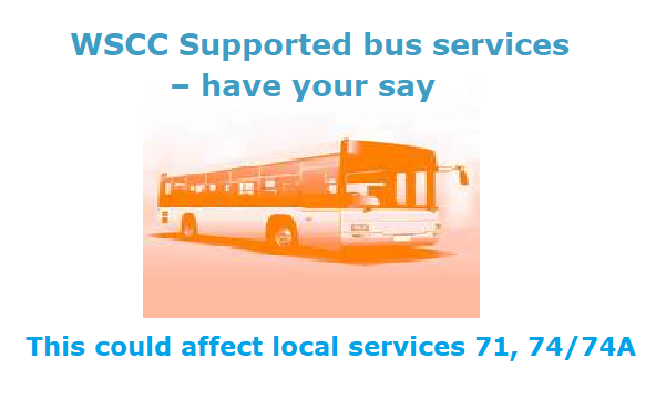 If you use the local bus service – tell WSCC!