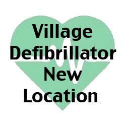 Village Defibrillator – New Location