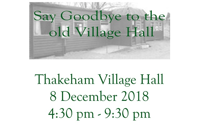 Goodbye to old Village Hall