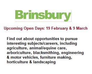 Brinsbury Taster Days 19 Feb & 9 March