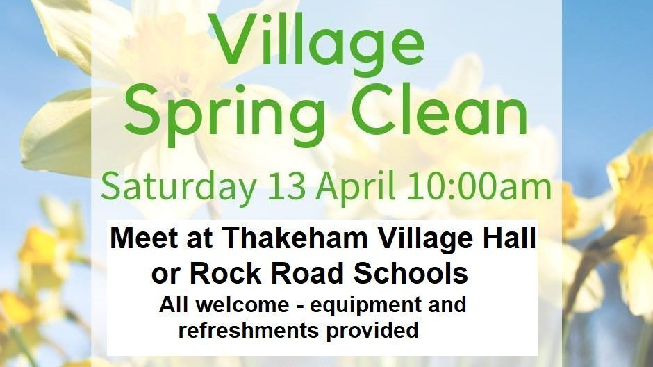 Village Spring Clean Sat 13 April 10am
