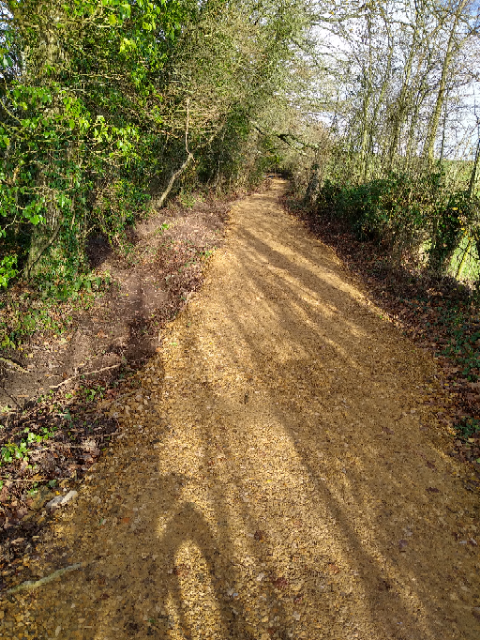 Image of resurfaced bridleway