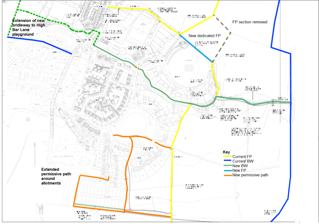 Overview map of Abingworth rights of way scheme