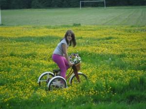 Barbara Laker Granddaughter-in-Abingworth meadow